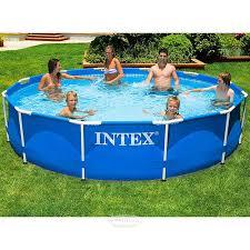 Каркасный <b>бассейн Intex Metal Frame</b> 366*76 см купить в Москве ...