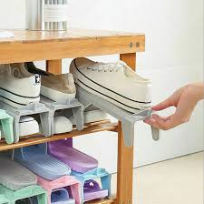 Saving Storage <b>Adjustable</b> Durable <b>Creative</b> Plastic <b>Shoes Rack</b> ...