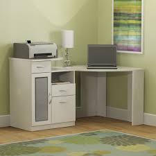 Computer Desk Cabinet Furniture Office White Modern Corner Computer Desk With File
