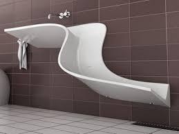 unique design bathroom wall