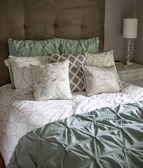 west elm bedroom gray grey calm cozy lia griffith pintuck duvet headboard tufted bedding layers ruffles astonishing home stores west elm