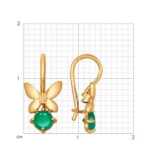 <b>Серьги</b> «<b>Бабочки</b>» из золота с агатами <b>SOKOLOV</b> – купить в ...