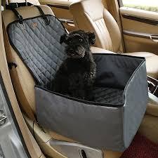 Gray 2in1 <b>Foldable Dog Car</b> Seat Cover Nylon <b>Waterproof</b> Thick Soft ...