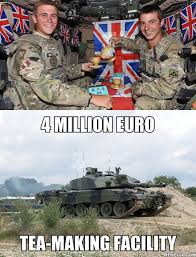 Meanwhile At The British Army Facilities - Funny Images and Memes ... via Relatably.com