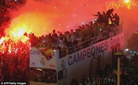 Image result for real madrid fans celebrating
