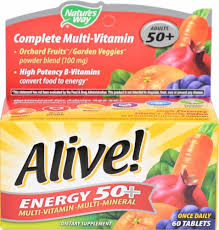 Nature's Way Alive! Energy 50+ without Iron, 60 Tablets - Food 4 Less