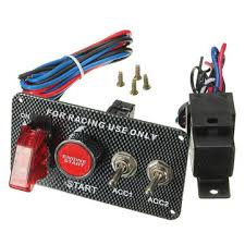 <b>ignition switch panel</b> led toggle engine start push button racing <b>12v</b> ...