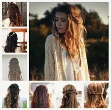 sweet braided hairstyle for winter 2017 by clip on real wavy extensions for short hair
