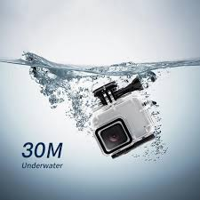 <b>Waterproof Case</b> Housing for Gopro Hero 7 Silver White Underwater ...