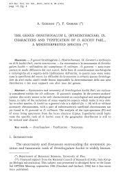 THE GENUS ORNITHOGALUM L. (HYACINTHACEAE). IX ...