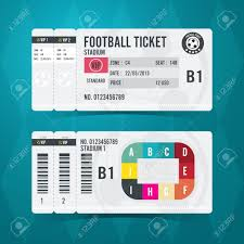 numbered tickets stock photos images royalty numbered numbered tickets football ticket card modern design