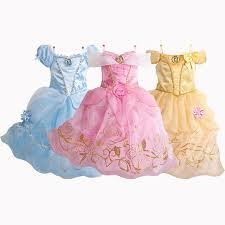 2 10 Years <b>Princess Cinderella Girls Dress</b> Snow White Dresses For ...