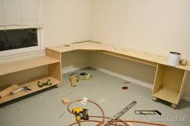 custom diy desk build office desk