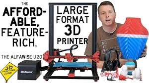 An Affordable, <b>Large</b> Format <b>3D Printer</b> - The Alfawise U20 - YouTube