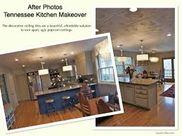 Ceiling Tiles For Kitchen Decorative Ceiling Tiles Before And After Photos
