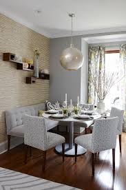 how to go gray when your entire house is beige pt 2 of 2 grey dining roomround dining room tabledining room wall decorbanquette banquette dining room furniture