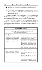 competency based interview 47 identify key competencies 47key questions
