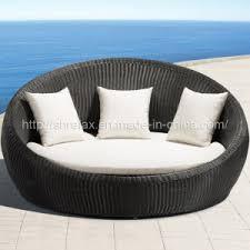 garden rattan round wicker daybed outdoor patio furniture china outdoor rattan garden