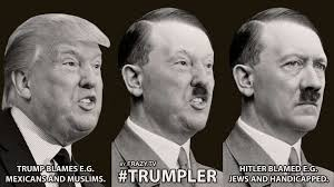 Image result for Trump as hitler