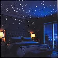 <b>Glow in The</b> Dark Stars Wall Stickers,252 Adhesive Dots and Moon ...