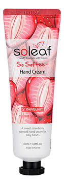 <b>Крем для рук</b> Soleaf <b>So</b> Softee Hand Cream Strawberry объем 50 ...