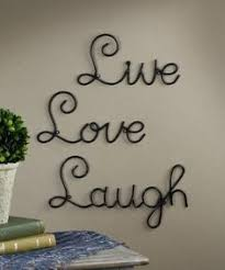 iron wall decor u love: amazoncom live love laugh set  wall mount metal wall word sculpture