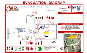 evacuation diagrams   safeguardevacuation diagram