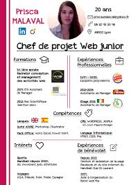cv chef de projet web junior photoshop cv template cv chef de projet web junior photoshop
