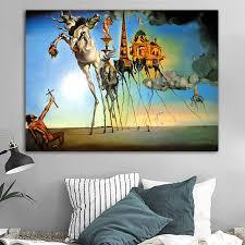 Salvador Dali Canvas Painting <b>Abstract Art Horse</b> ,Elephant ...