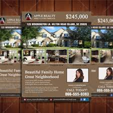 featured listing property design template real estate lead generator open house flyer cr3