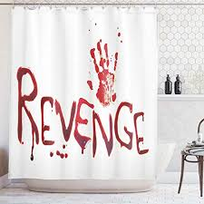 UK 3D Horror <b>Halloween Theme Printed</b> Hooks WIth Curtain ...