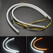 <b>2pcs 60cm DRL</b> Flexible LED Tube Strip Style <b>Daytime Running</b> ...