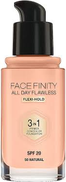 Max Factor Facefinity All Day Flawless <b>3 in 1 Liquid</b> Foundation, 050 ...