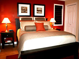 red wall paint black bed: bedroomdelightful romantic bedroom design for anniversary with cream wall paint and white bed sheet