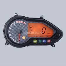 Ready stock <b>Universal DC12V</b> Motorcycle LED Speedometer ...
