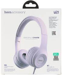 <b>Наушники Hoco W21</b>, фиолетовые W21