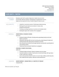 pastor resume template sample resume for pastors