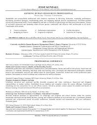 Example Resume  Aspiring Human Resources Professional For Objective Teacher Resume  Objective Teacher Resume