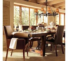 Farm Table Dining Room Set Signal Hills Paloma Rustic Reclaimed Wood Rectangular Trestle Farm