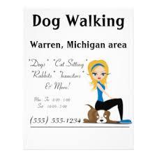Pet Sitter Flyers & Programs | Zazzle dog walker pet sitter business flyers