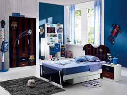 bedroom furniture sets for teenagers boys with blue wall paint football theme bedroom furniture teenagers