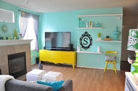 blue and yellow living room by the sugar monster blue yellow living room