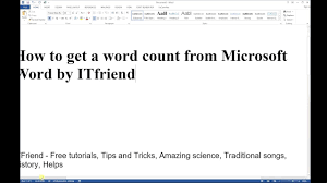 how to get a word count and number of characters from microsoft how to get a word count and number of characters from microsoft word 2016