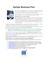 printable business plan sample form generic business plan sample
