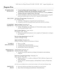 resume objective examples event coordinator resume special eugene cover letter resume objective examples event coordinator resume special eugene foxevent resume sample