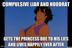 hood aladdin | Compulsive liar and hoodrat Gets the princess due ... via Relatably.com