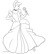 Small Picture Coloring Princess Cinderella Coloring Pages