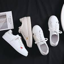 <b>Cute</b> Heart Pattern <b>Women Vulcanize Shoes</b> Lace-up Leather ...