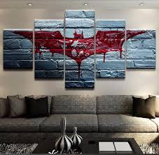 <b>5 Pieces</b> Canvas The Dark Knight <b>Movie</b> Poster Batman Symbol ...
