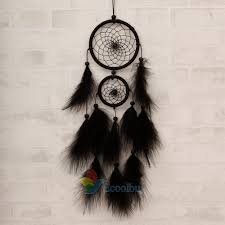 Black Large Feater Handmade <b>Dream Catcher</b> Car <b>Wall</b> hanging ...